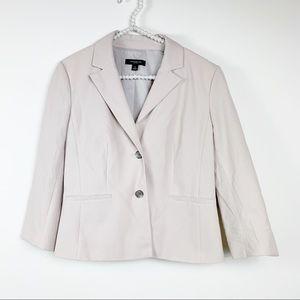 Ann Taylor womens tan blazer size 8 cotton stretch